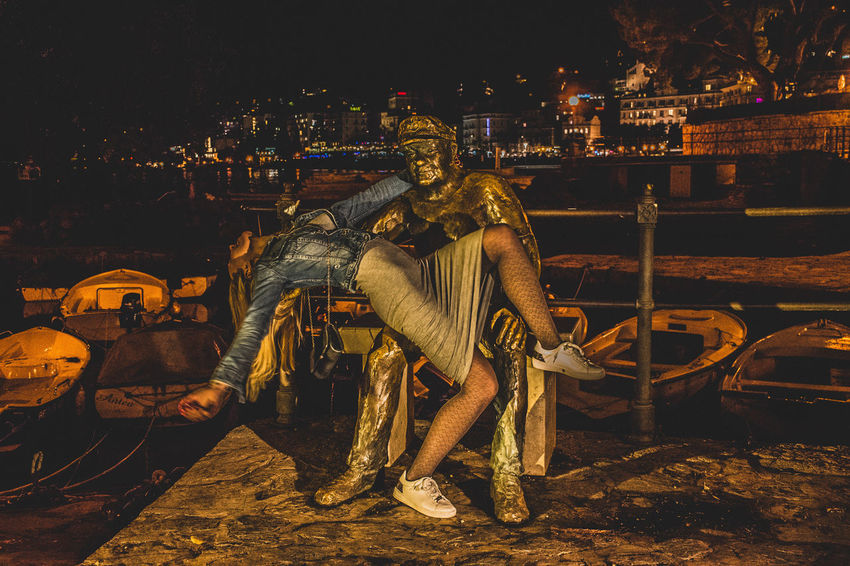Architecture Night Full Length Built Structure City Real People People Lifestyles Leisure Activity Casual Clothing Nature Illuminated Representation Young Adult Cityscape Opatija SexyGirl.♥ Sexywomen Girl Statue Statues And Monuments EyeEmNewHere EyeEm Best Shots Eye4photography  The Week on EyeEm