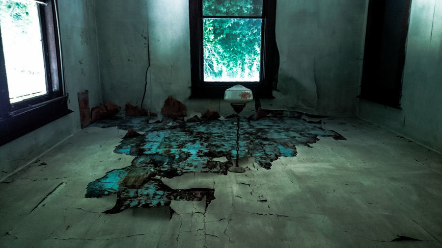 Upside Down Image Of Abandoned House