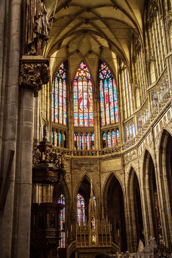 inside the cathedral Prague Renaissance Arch Architectural Column Architecture Baroque Style Colorful Day Gothic Style Historic History Indoors  Inside Photography No People Old Place Of Worship Religion Spirituality Travel Destinations Window