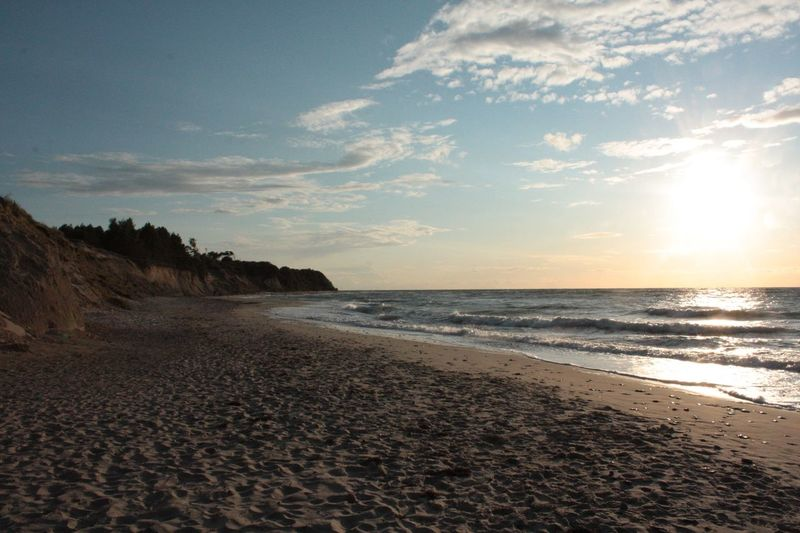 Beach Beauty In Nature Coastline Day Horizon Over Water Natural Beach Natural Beauty Nature No People Ostsee Outdoors Rügen Rügen Lovers Sand Scenics Sea Seashore Shore Sky Sunset Sunset And Clouds  Sunset_collection Tranquil Scene Water Wave