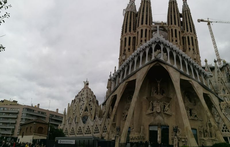 Barcelona, Spain Sagrada Familia Catedral De Barcelona Gaudì Architecture Work #NotYourCliche Love Letter Politics And Government City Cityscape History Business Finance And Industry Urban Skyline Sky Architecture Building Exterior Built Structure Civilization Cathedral Monument