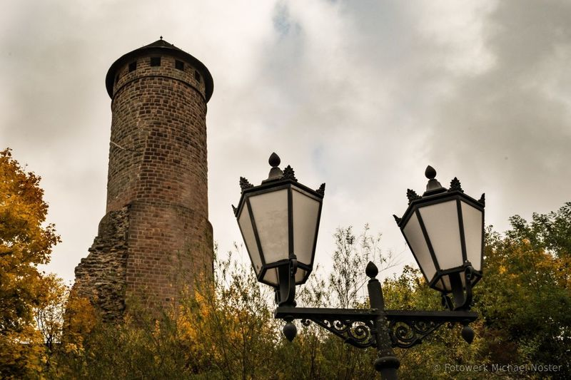 Outdoors Street Light Low Angle View Architecture No People Tree Day Tower Middelage