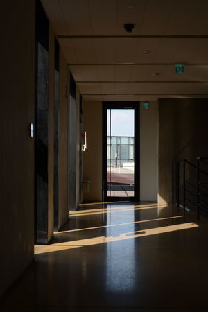 Architecture Cross Daejeon Korea Light Corridor Illuminated Interior Interior Design Koreaarchitecture Light And Shadow Office Seonghyosang