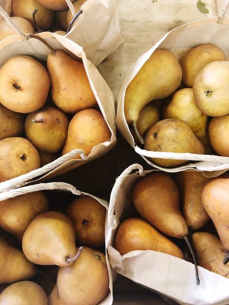 Beurre Bosc pears Kaiser Beurre Bosc Pear EyeEm Selects Food Food And Drink Freshness Healthy Eating Wellbeing Still Life Fruit No People Backgrounds Abundance Market For Sale Raw Food High Angle View Large Group Of Objects Full Frame
