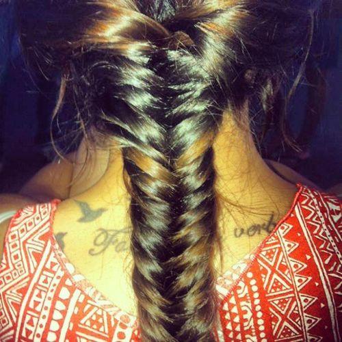 Trenza Espiga Tattoo Etnic Long Hair