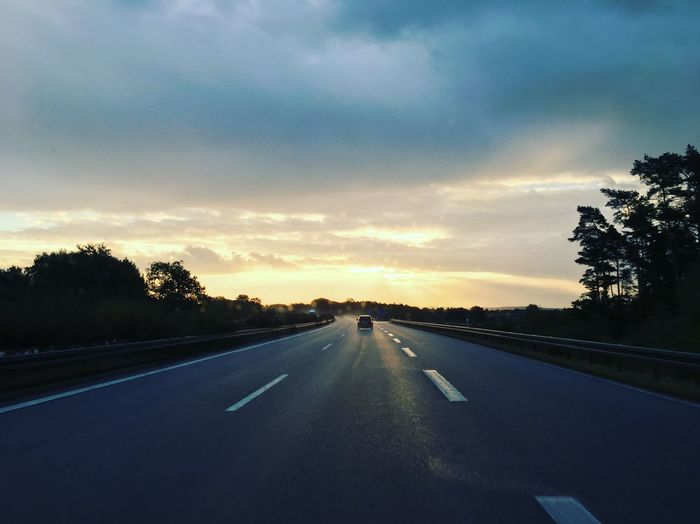 Autobahn Cloud Cloud - Sky Cloudy Diminishing Perspective Free Highway German Autobahn Germany Growth Highway Leere Autobahn Nature Outdoors Road Road Marking Scenics Sky Street Sunset The Way Forward Tranquil Scene Tranquility Transportation Tree Vanishing Point