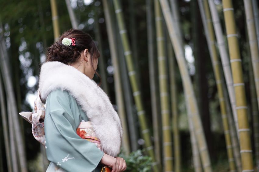 Coming of Age Day SONY A7ii Nofilternoedit Masako201801 105mm Micronikkor Micronikkor105mmf2.8 Reflective 成人の日 成人式 Anniversary Kimono Bamboo Forest Japanese Garden Coming Of Age Ceremony Coming Of Age Day One Person Outdoors Real People Long Hair Day Standing