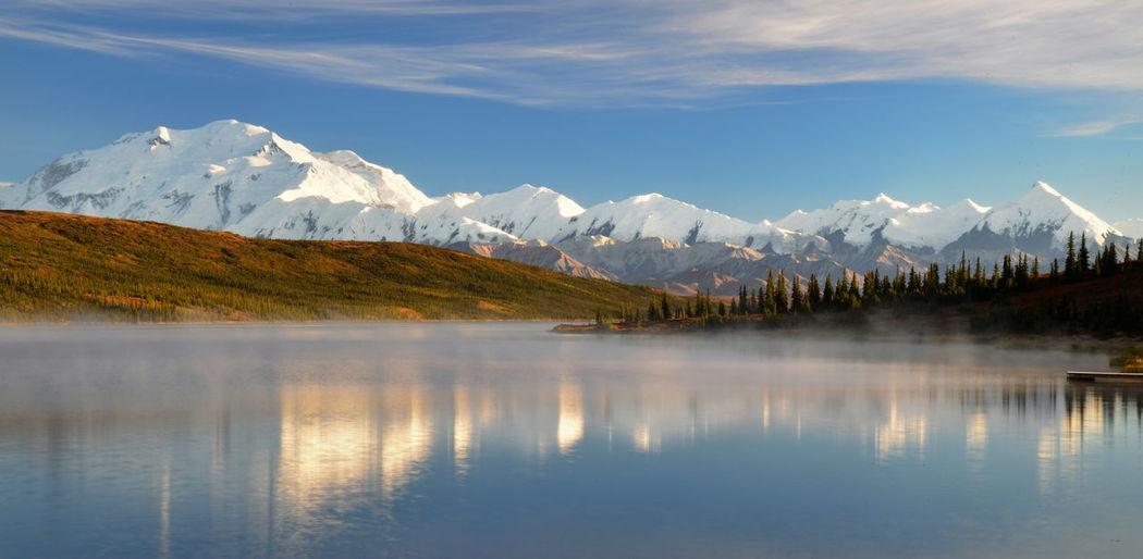 Wonder lake denali national park alaska