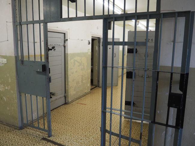 Gedankstätte, Berlin, Stasi Absence Barrs Closed Corridor Detention Detention Center Door Indoors  Jail Jailhouse Locked Up Prison