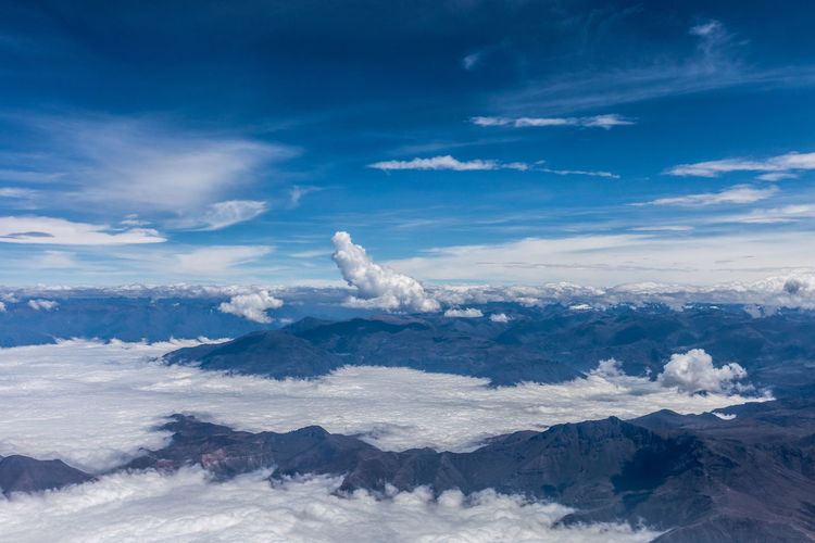 Cloud - Sky Sky Scenics - Nature Beauty In Nature Tranquil Scene Mountain Tranquility No People Nature Day Mountain Range Blue Environment Idyllic Landscape White Color Non-urban Scene Outdoors Snow Snowcapped Mountain