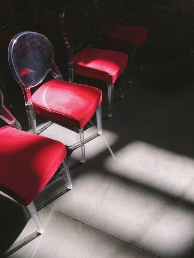 Break The Mold Chair Empty No People Red Day Light Light And Shadow Color Shadow Shadows & Lights Contrast Contrasting Colors Contrast And Lights