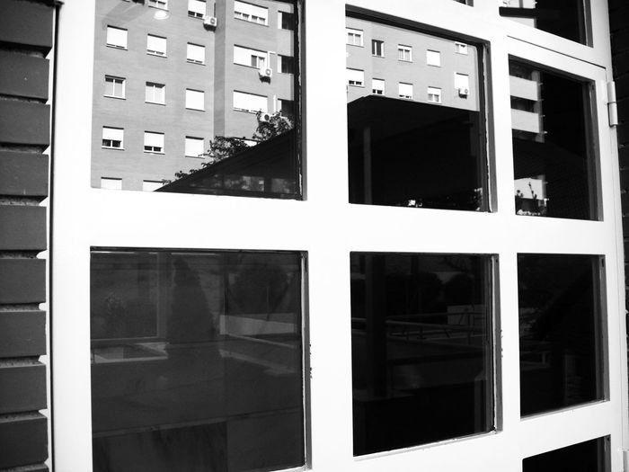 Reflection Architecture Backgrounds Blackandwhite Blak And White Building Exterior City Close-up Day Design Full Frame Glass - Material Monochrome No People Outdoors Reflection Residential District Shape Technology Transparent Window Window Frame Windows Reflection