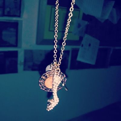 Omfg bby got me a Cinderella necklace when she was in Disney ?❤ @monsteratheart is my favorite princess ?❤
