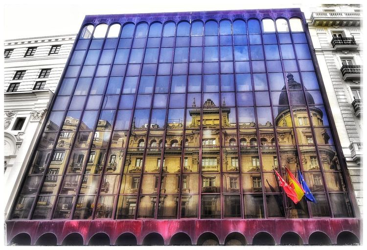 Architecture Low Angle View Built Structure Building Exterior Window Day Outdoors Multi Colored No People City Architecture City Cityscape Spain🇪🇸 Autumn Cloud - Sky Sky Gran Via, Madrid Travel Destinations Madrid,spain