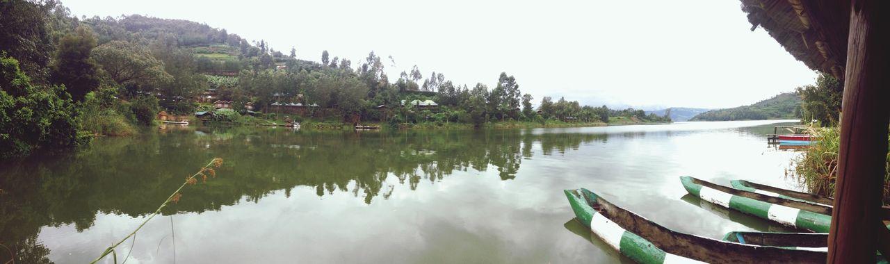Boats on Lake Bunyoni Uganda  Africa Lake Water Travel Landscape Nature Travel Photography