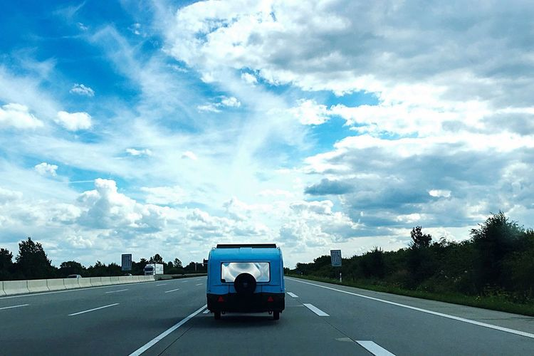 On the road... Travel Freedom Drive By Shooting Cloud - Sky Transportation Sky Mode Of Transportation Road Land Vehicle Nature Street Motor Vehicle Lifestyles Outdoors A New Beginning