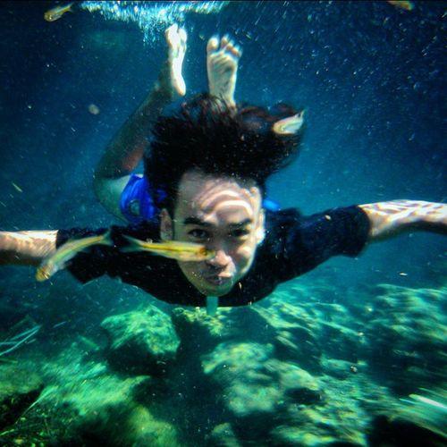 SNORKLING OR DIVING ??? Entahlah di bilang diving silahkan ... Di bilang snorkling silahkan... Yang pasti apapun namanya... Ahkirnya keturutan juga foto di dalam air... hanya bermodalkan waterproof... SONY XPERIA L ku ahkirnya bisa menyaingi SONY XPERIA Z3 ato semacamnya lah, yang bisa buat foto di dalam air.... 😄😄😄 HEHEHE.... intinya selama punya ide smart... Smartphone secanggih apapun ... Masih canggihan Otak Kita.... Nice Nice my IQ 😃😃THANKS GOD 🙏🙏 Sanpicture Grapictoolens Diving Snorkling Renang Xperiawithwaterproof Sonymobile XPERIA Instalike Instagram Sumberair Sungaikecil Sumberpocong MyTripMyAdventure Sumberpending