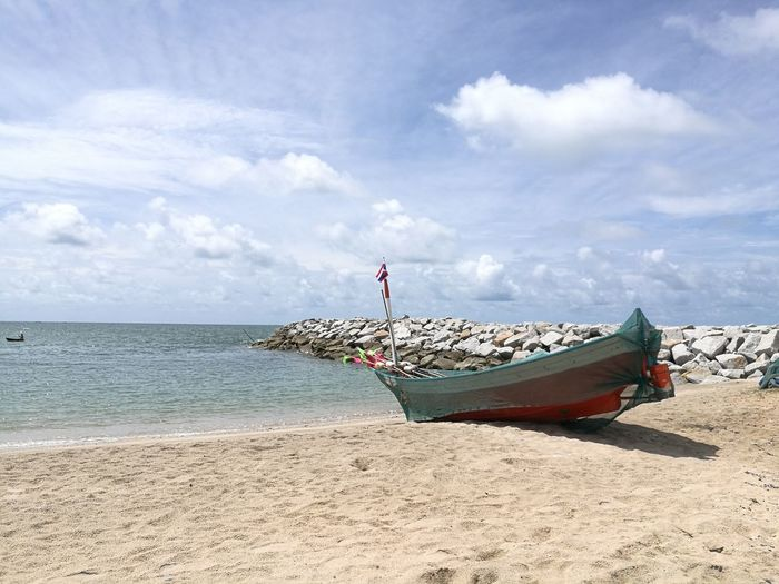 Thailand beach Beach Thailand Rayong HuaweiP9 Boat Sky Sea Nature Scenics Day Ocean Beauty In Nature