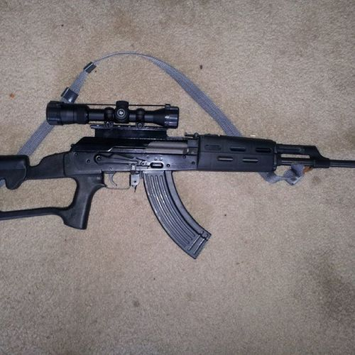 AK47 with a Vortexdiamondback 1.75-5×32 scope .....EgyptianAK47 Russiantooled