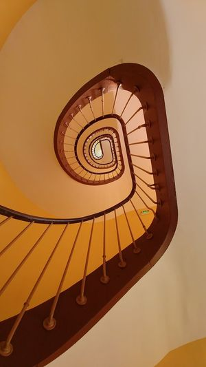 Familistere Jean-Baptiste André Godin Palais Social Utopia Architecture Built Structure Close-up Day Hand Rail Indoors  Low Angle View No People Railing Spiral Spiral Staircase Spiral Stairs Staircase Stairs Steps Steps And Staircases