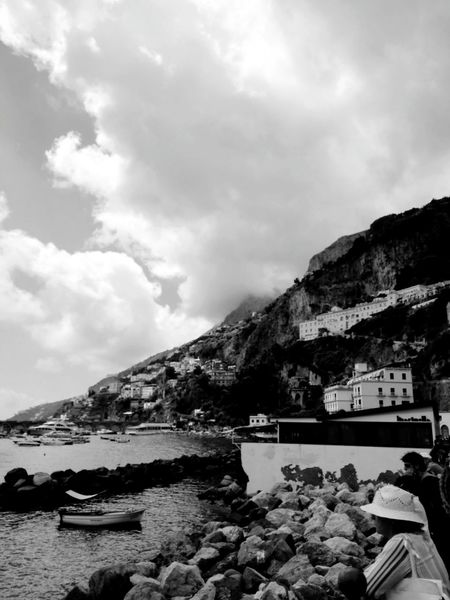 Architecture Amalfi Coast Costiera Amalfitana Sky Day Water Tranquil Scene Mountain