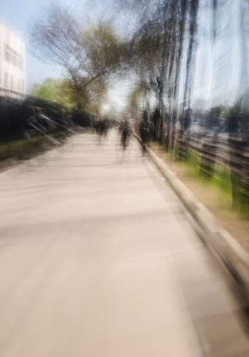Transportation Direction Tree City Walking Architecture Road Day Motion The Way Forward Diminishing Perspective Plant Nature Blurred Motion Mode Of Transportation Travel Street Outdoors Built Structure One Person