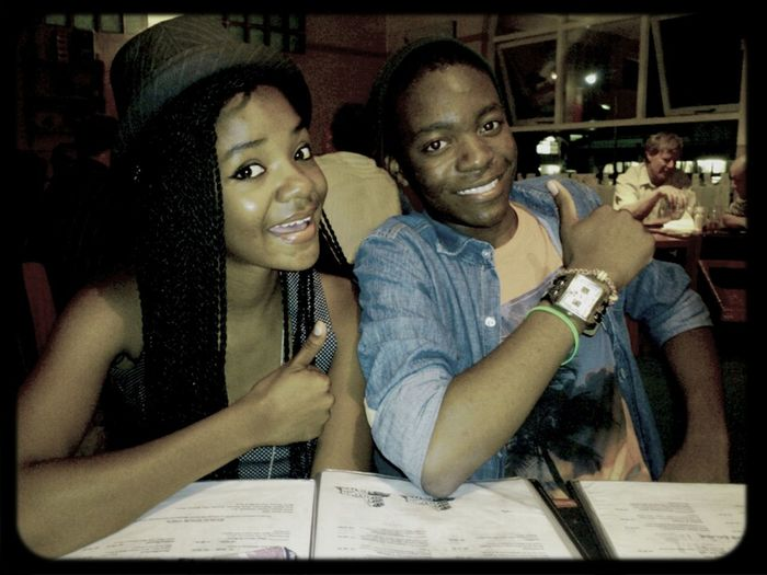 my bestfriend and i, eating out at Napolitana :)