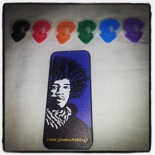 Jimmy Hendrix Pickofthedestiny My new guitar picks ! Tribute best guitarist