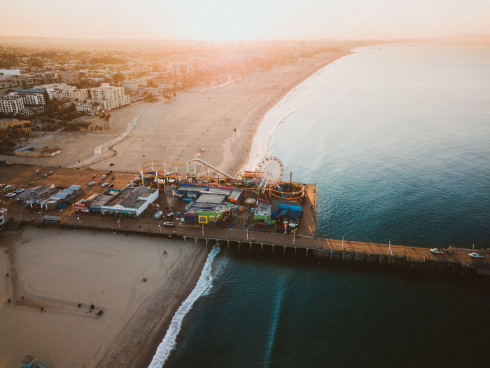 California Drone  GTA GTA V Santa Monica Aerial View America Architecture Building Exterior Built Structure City High Angle View Industry Land Nature No People Outdoors Pier Sea Shipping  Sky Transportation Water The Great Outdoors - 2018 EyeEm Awards