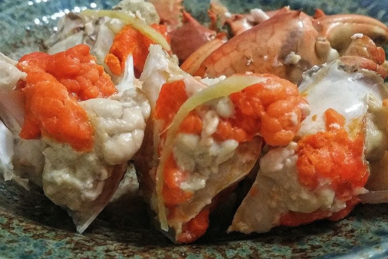 Steamed  Crab Roé Orange Ginger Food Foodphotography Foodcollection Crab Time Crazy For Crabs Singapore