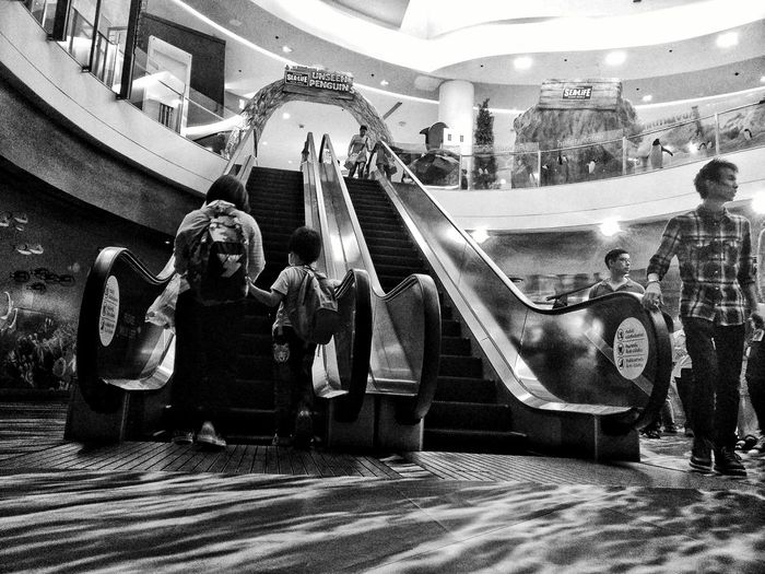 At Siam Paragon. Phonetography. Siam Ocean World Black And White Getting Inspired EyeEm Masterclass EyeEm Thailand PhonePhotography People Candid Enjoying Life Check This Out