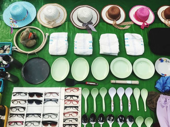 Choice Arrangement Variation Large Group Of Objects For Sale Directly Above High Angle View No People Still Life Side By Side Market Stall Collection Market Retail  Communication Multi Colored Abundance