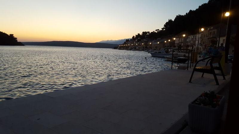City Summer Lights Sea And Sky Sea Night Croatia