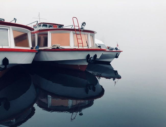 off season The Week On EyeEm Harbor Waterfront Water Ships Boats Wintertime Lake Müritzsee Foggy Day Off Season Winter Quiet Moments Harbour