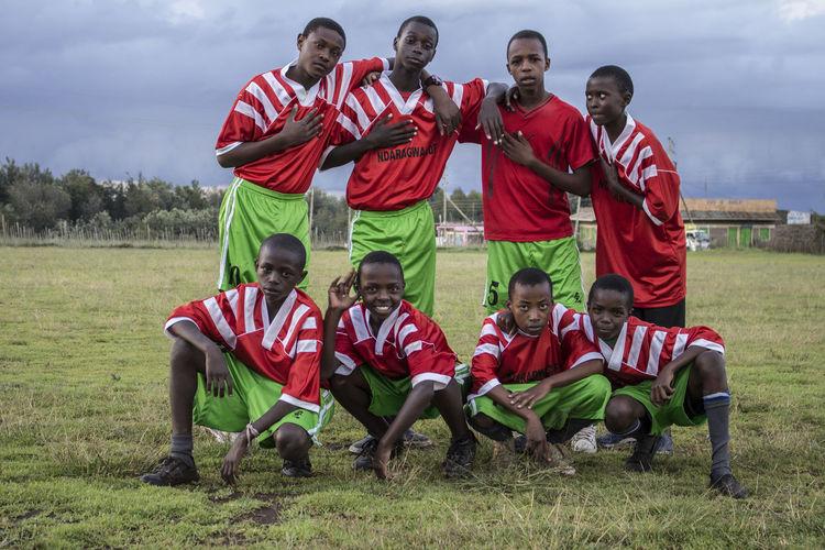 Kenya Ndaragwa Blackstar Design Front View Landscape Nature Outdoors Proudly Kenyan Schoolteam Soccer Sport Sports Uniform
