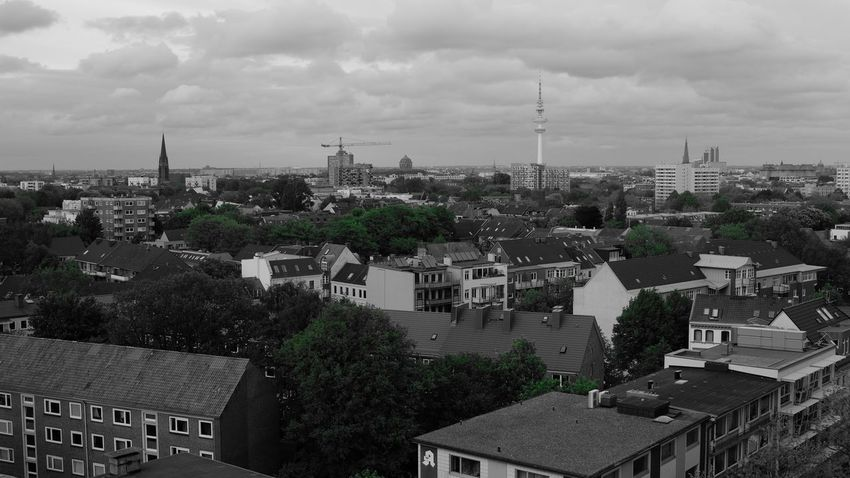 Architecture Buildings City Cityscape Cloud - Sky Germany Hamburg Telemichel Town Trees