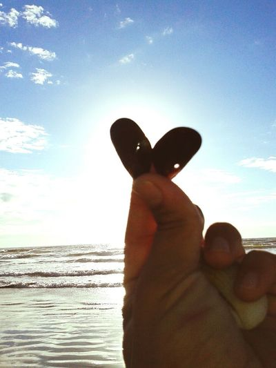 Love and Peace in beach... Beach Sunshine Summer