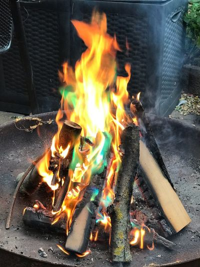 Mystical fire Mystical Fire Burning Fire Flame Heat - Temperature Fire - Natural Phenomenon Log Wood - Material