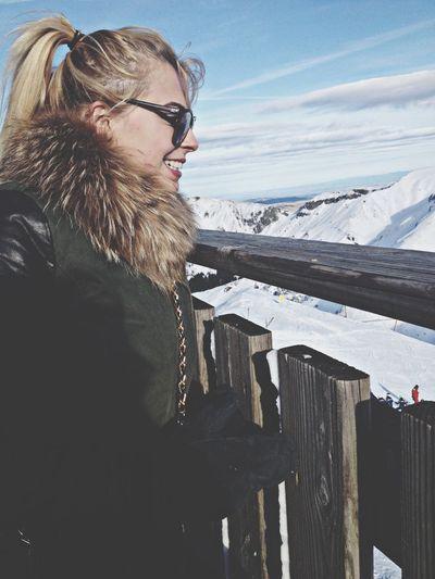 Ski Walking Around Escaping Relaxing