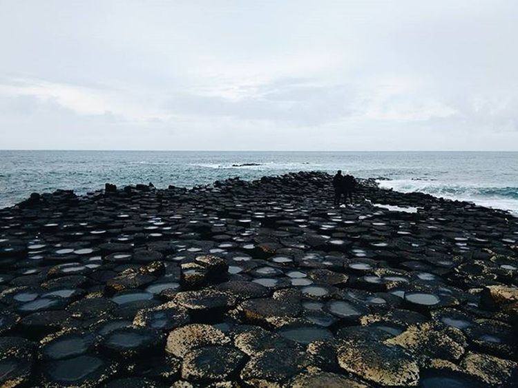 Cannot get over this amazing place Incredible Volcanic  Holiday Trip Travel Igtravel Travelgram Rocks Minerals Ocean Atlanticocean Beach Amazing Beautiful VSCO Vscocam Muted Ireland Northernireland Giants Finnthegiant Legends Mystical Magic