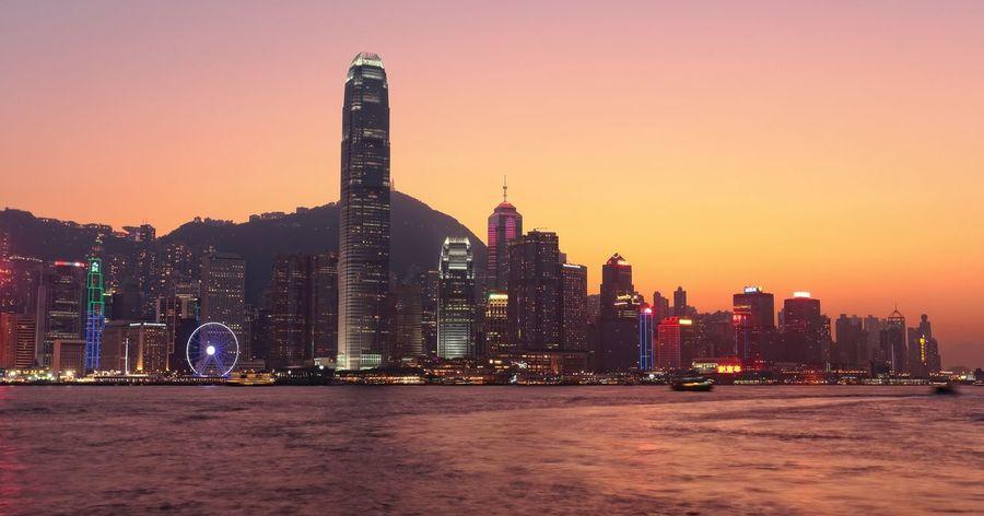 Hong Kong Hong Kong Harbour Hong Kong Victoria Harbour Sunset