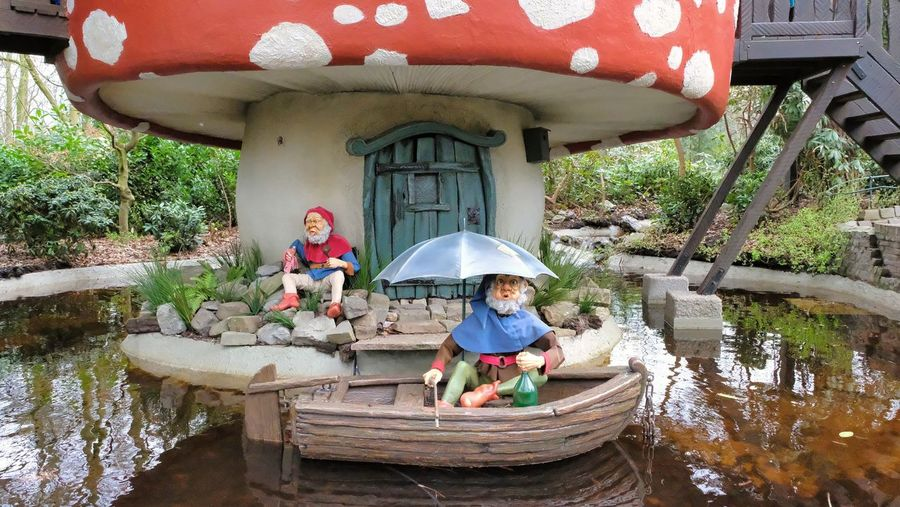 Attraction theme park the Efteling, Kaatsheuvel, the Netherlands. Water Real People Built Structure Architecture Day Child Men Childhood One Person Nature Boys Sitting Building Exterior Front View Plant Males  Lake Outdoors Innocence