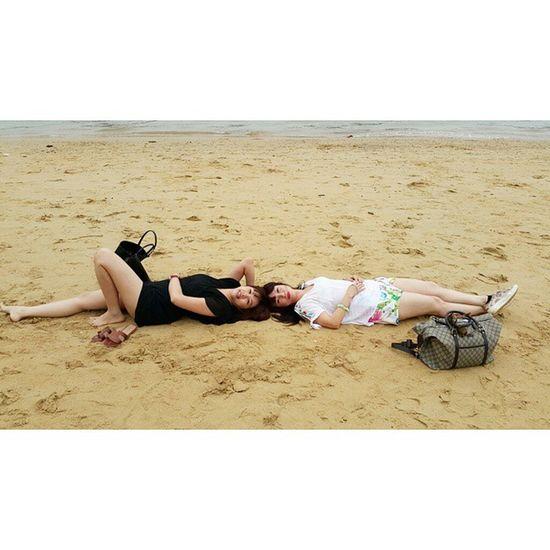Testing the softnes of the sands of Ti Top beach 😄😂 Halong Halongbay HalongbayCruise Vietnam Trusty Travelmaniac Traveler Travel Photography Asia 2015.03.04