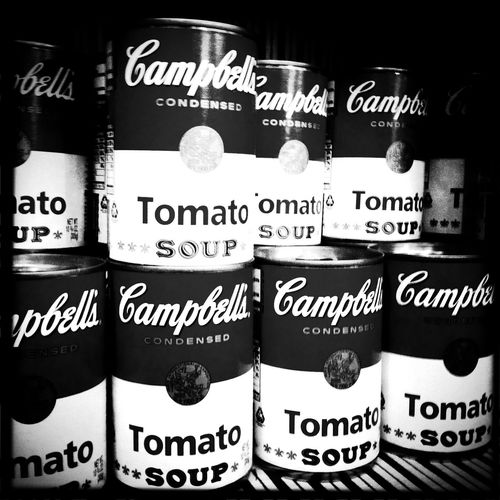 warhol soup of the day at Jardines de Sabatini No Flash BlacKeys SuperGrain Film Warhol Soup Of The Day