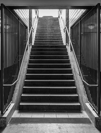 Black And White Architecture Best Of Stairways Railing Underground Grid Staircase The Way Forward Direction Steps And Staircases Built Structure Low Angle View No People Day Metal Indoors  Transportation Empty Nature Absence Diminishing Perspective Pattern Building