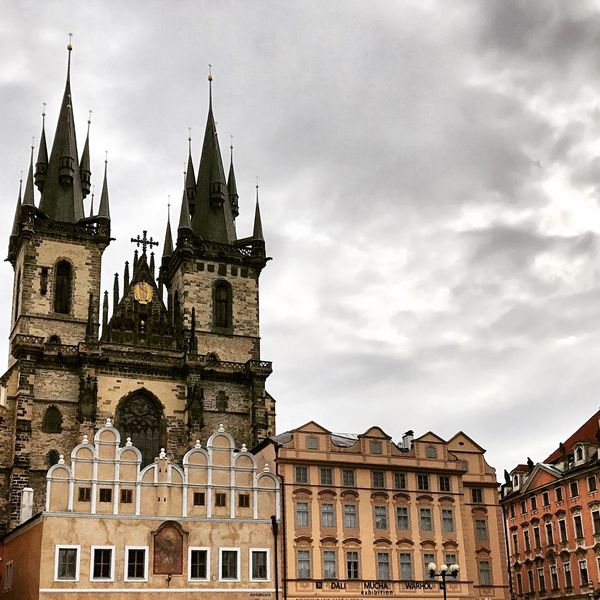 Church Photography Prague Streetphotography Church Picture Followme Architecture Building Exterior Built Structure Low Angle View No People Day Outdoors City Clock Tower
