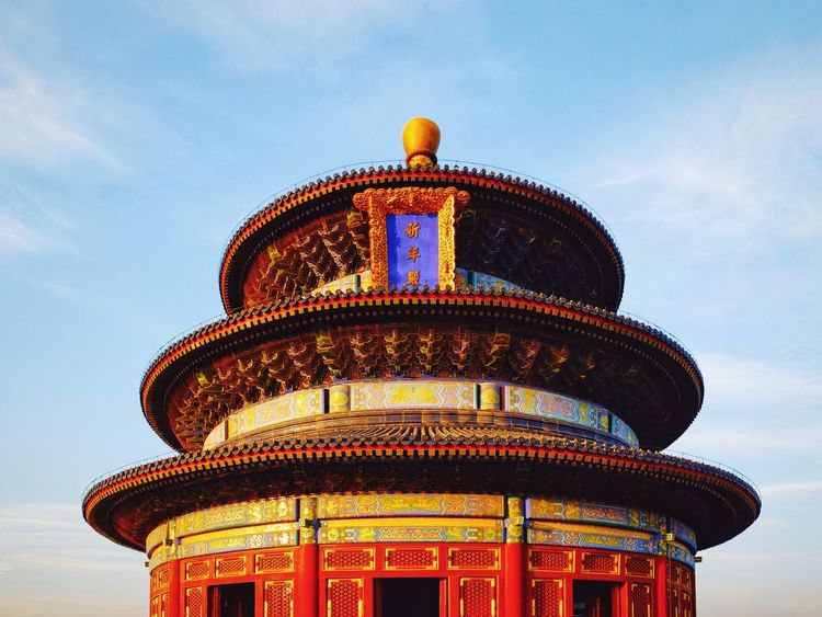 Architecture Sky City History Travel Destinations Dome Built Structure No People Politics And Government Outdoors Building Exterior Futuristic Night Cityscape Cloud - Sky Palace Light And Shadow Royalty King - Royal Person Beijing, China Place Of Worship FUJIFILM X-T10 Temple Of Heaven Park Old Building  Architecture