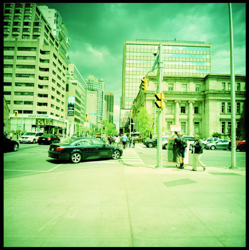Trudeau or not Trudeau Analogue Photography Architecture Canada Demonstrations  Film Photography Media Medium Format Naysayer Northamerica Politics Protest Signs Sky Toronto Trudeau Urban Xpro