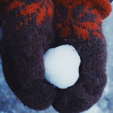 snow ball Snow Snow Ball Ball Snow Day Winter Mitten Mittens Wool Woolen Winter Clothes Warm Clothing No People Close-up Indoors  Textured  Day Freshness Shades Of Winter