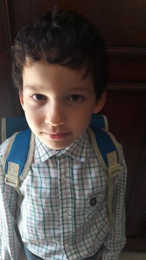 Portrait Of Boy Wearing School Uniform